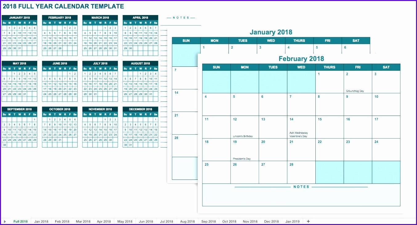 Superb Quarterly Calendars 2018