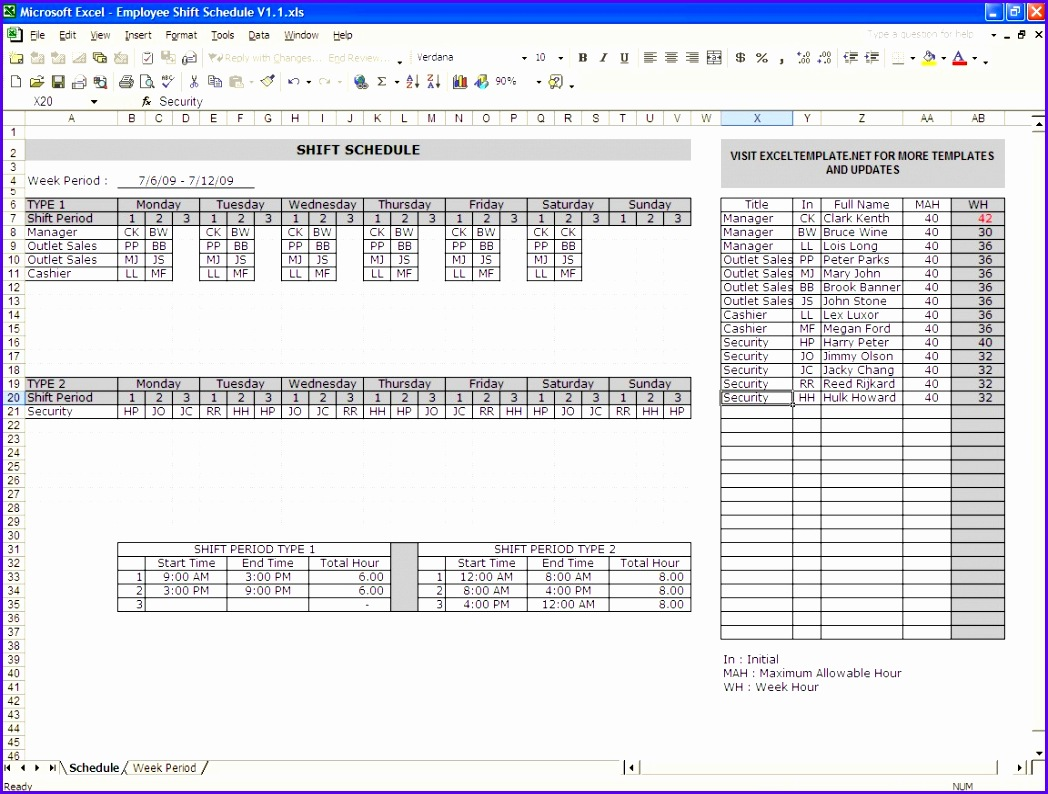 shiftschedule001 shift schedule templaterota template excel