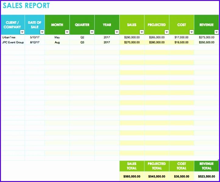sales spreadsheet template 723598