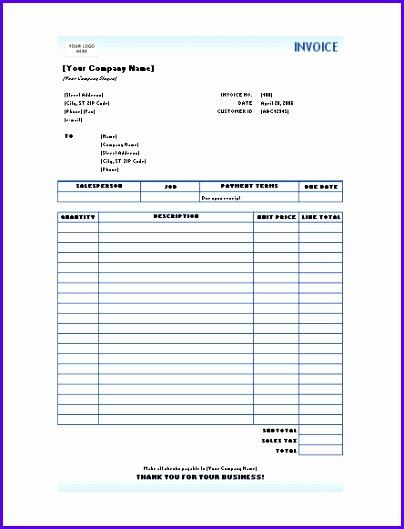 Service invoice Blue Gra nt design