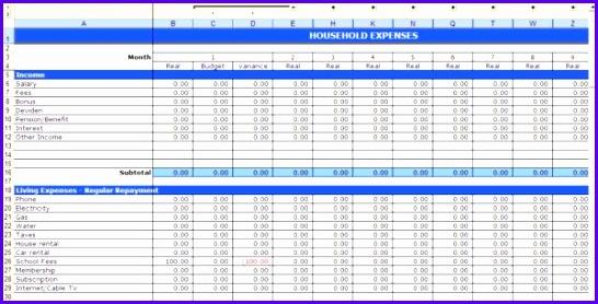 budgetplanung excel vorlage gratis