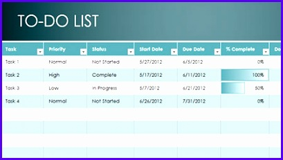 Excel To Do List Template 409231