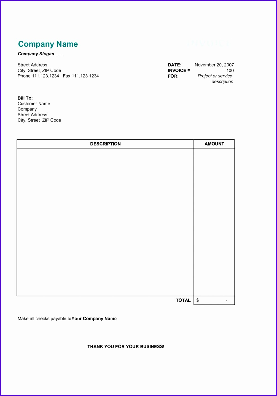 Project Managementvoice Template Simple Form Free Excel Templates For Managing Work Self Employed Quotation Format 9311332