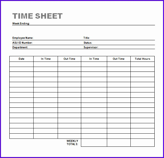 Sample Time Sheet Sample Monthly Timesheet Template Sample Excel 527506