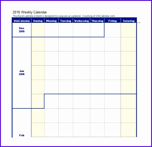 Blank Work Schedule Template 4 Free Word Excel Documents 532515