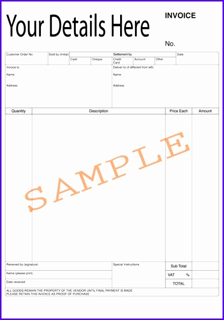 flooring invoice template duplicate design bespoke duplicate books and pads 455650