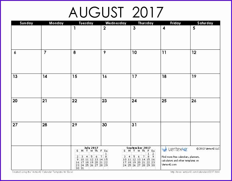 August 2017 Calendar 809630