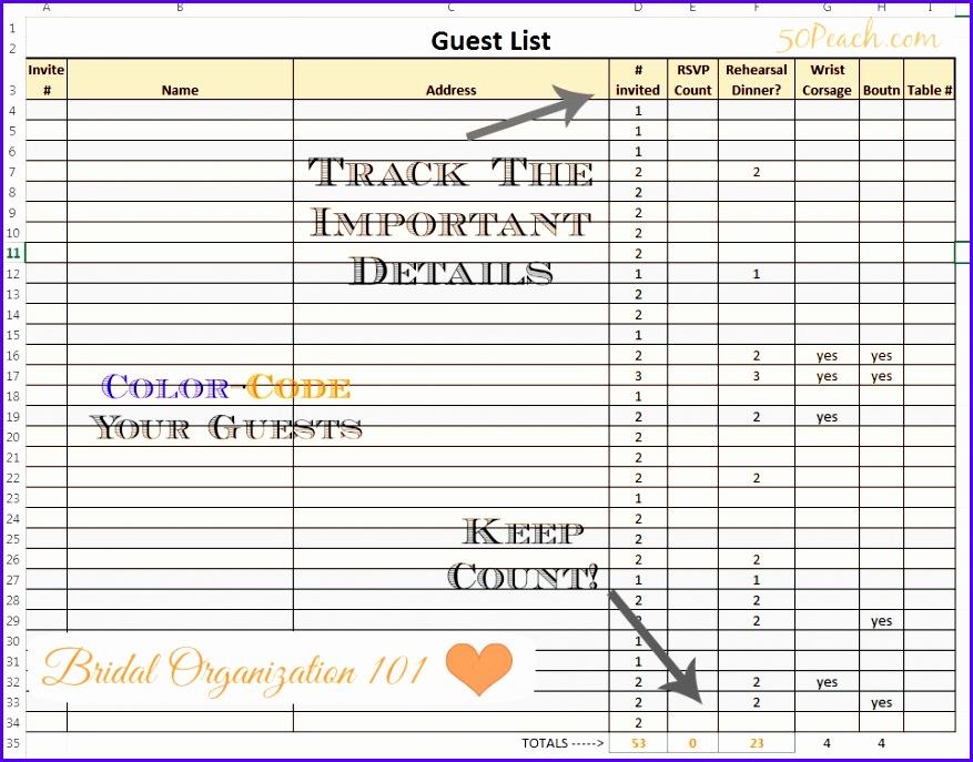 Wedding guest organization ideas 877687
