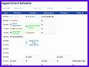 Appointment Schedule Template Appointment Schedule Template 182138