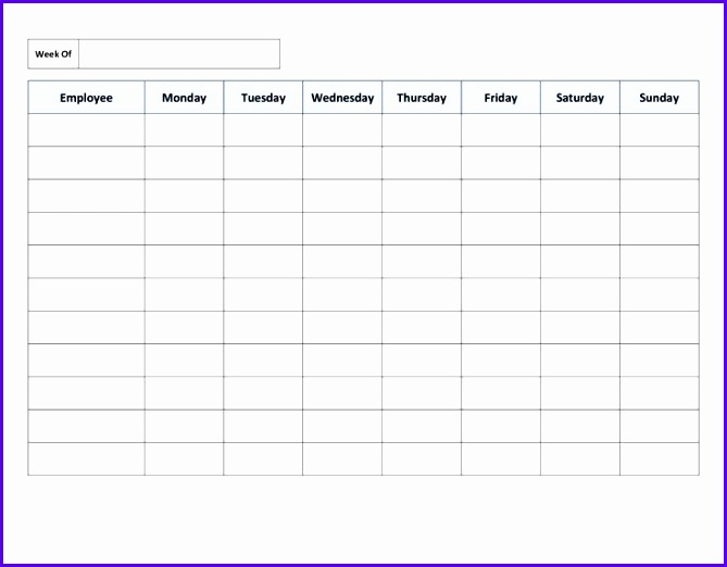 Free Printable Work Schedules 669522