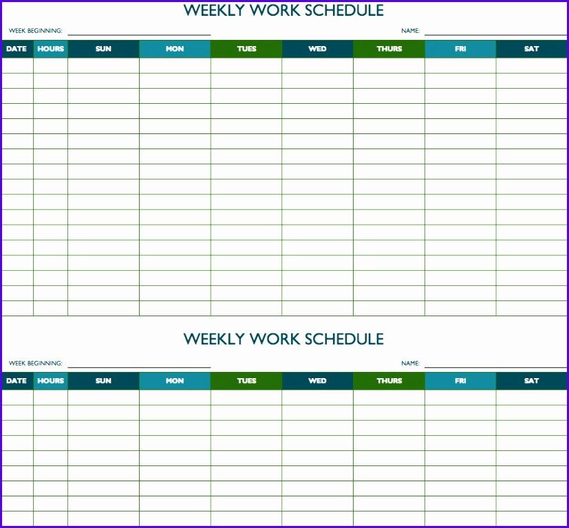 Biweekly Work Schedule Template 827768. Free Weekly ...  Free Weekly Schedule Template