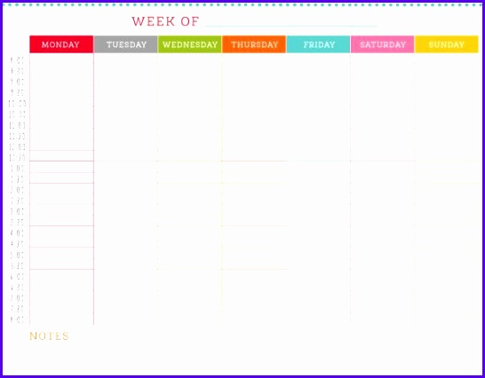 weekly schedule template 11 546426