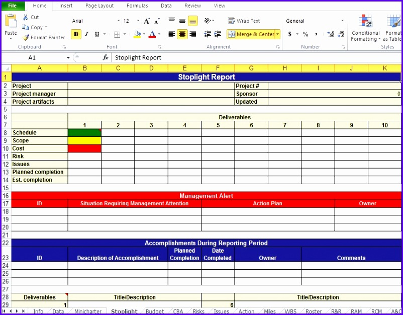 Project Plan Template Excel Free 802626