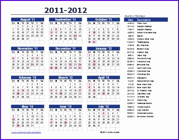 More Yearly Calendars 586457
