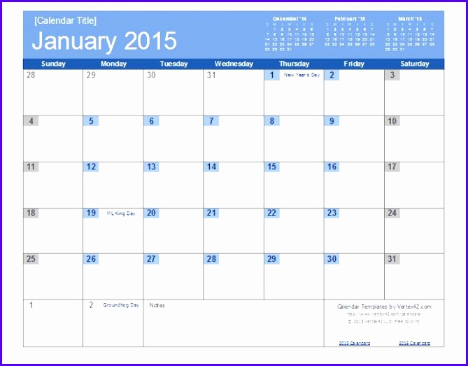 excel calendar template 2015 An easy to edit 2014 Calendar Template for Excel