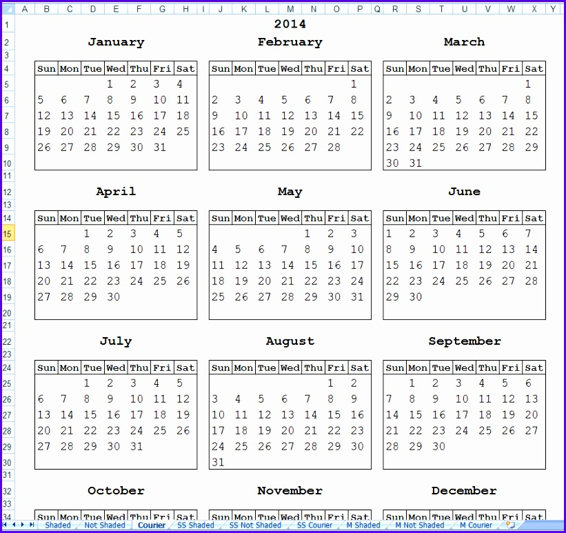 for preview · Download Simple Calendars 821773