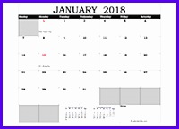 2018 Excel Calendar in Cell 200144