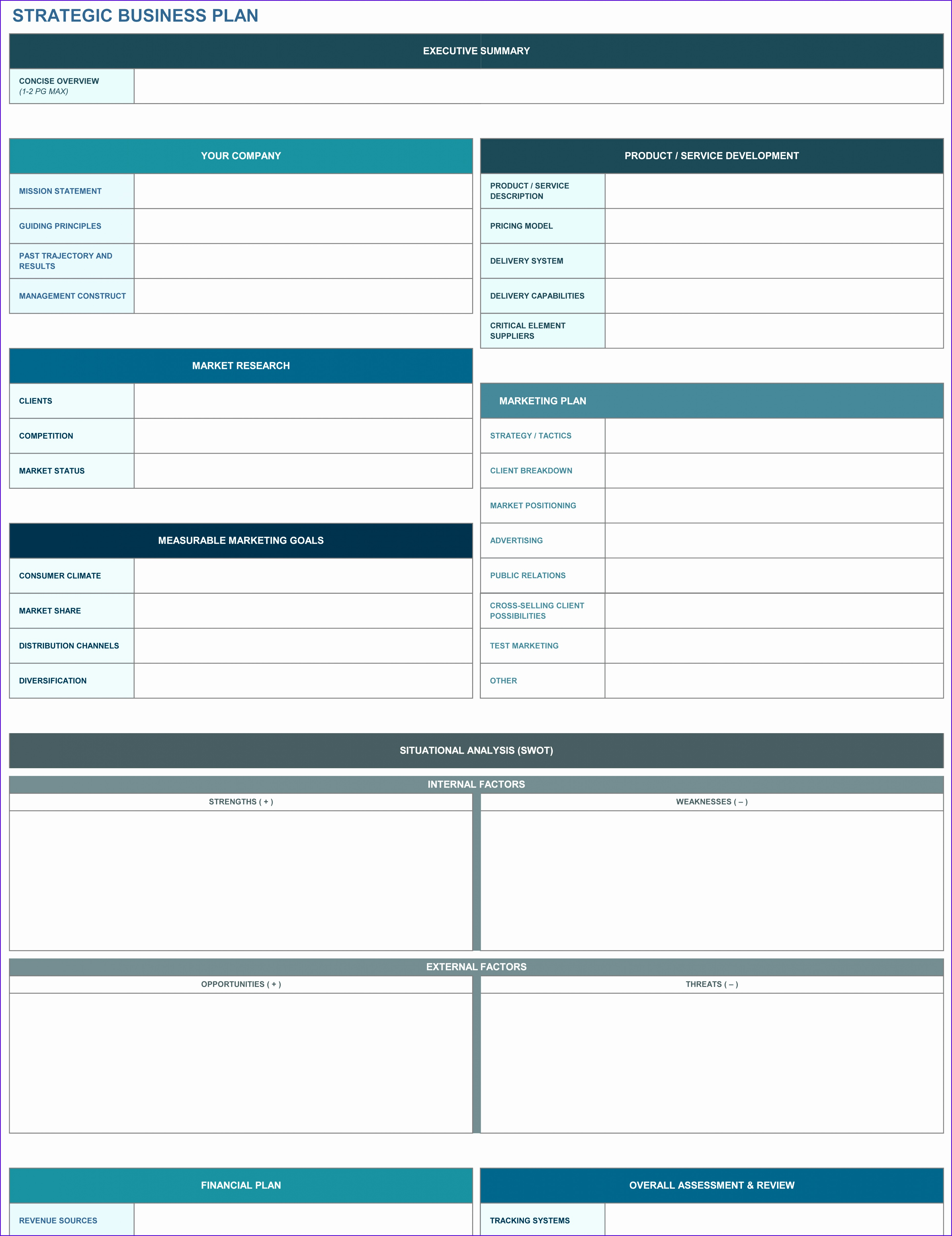 9 Free Strategic Planning Templates Smartsheet Business Plan Template Excel Dow Free Business Plan Template Excel 37204830