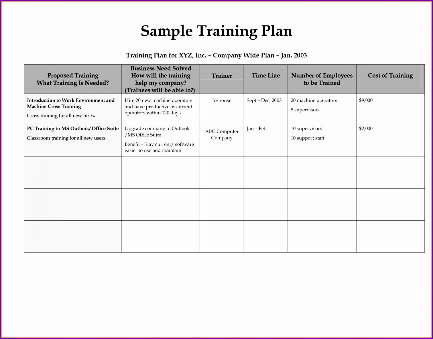 Training Calendar PowerPoint Templates