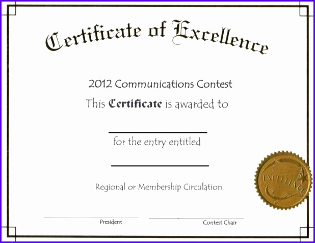 Sample Certificate Of Excellence | 14 Certificate Of Excellence Template Exceltemplates Exceltemplates