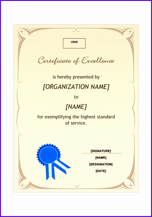 Certificate of excellence A4 size 494706