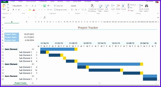 This able is a sample Gantt chart created in Microsoft Excel 550299