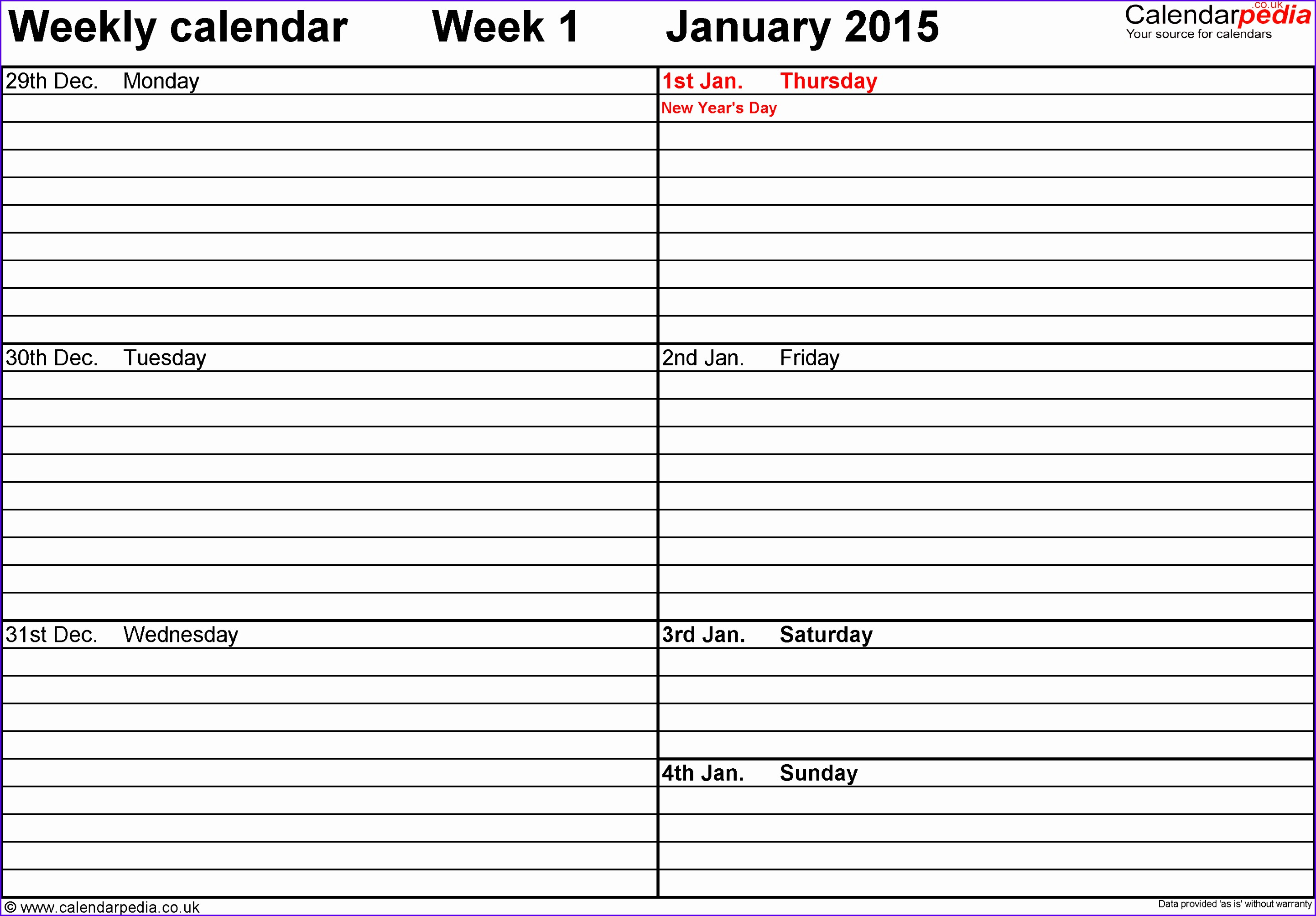 Weekly calendar 2016 for PDF 12 free printable templates 28852009