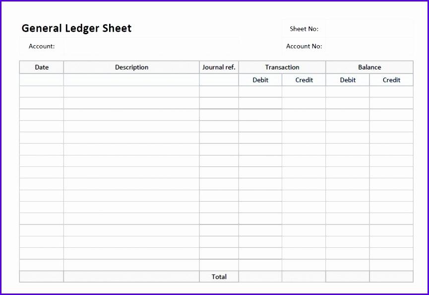 ledger sheet template excel 865594