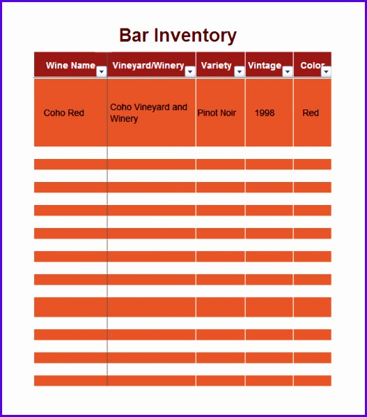 Liquor Inventory Template 7 Download Free Documents In Pdf Excel 527598