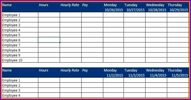 12 employee excel template exceltemplates exceltemplates for Employee earnings record template