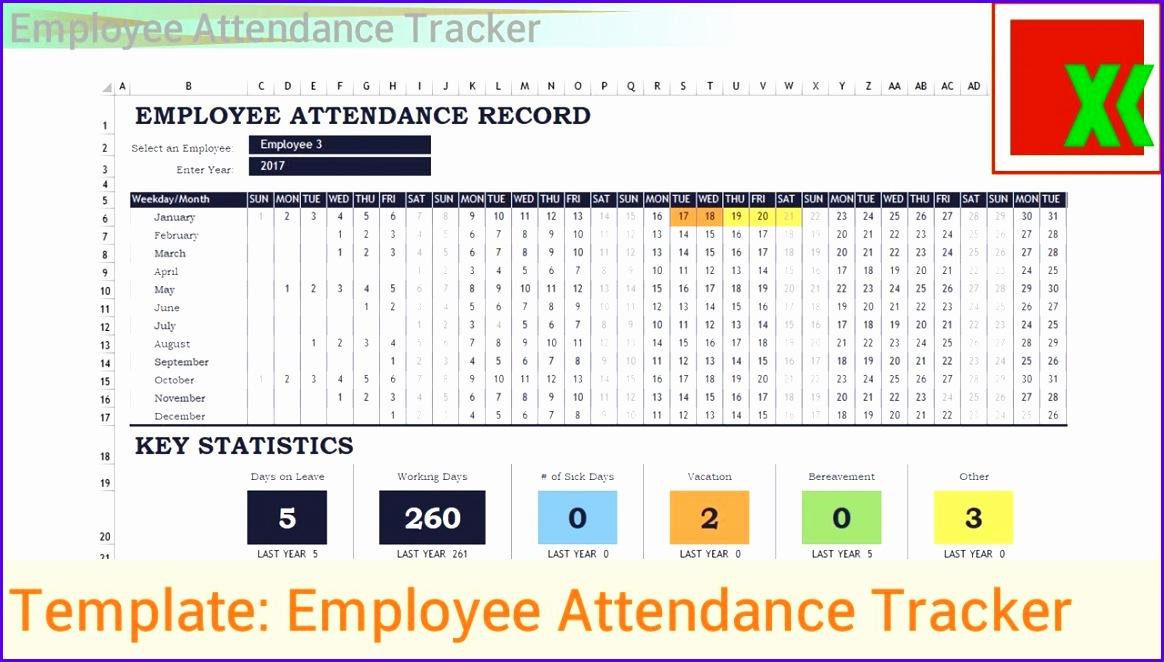 Excel Template Employee Attendance Tracker 1164662