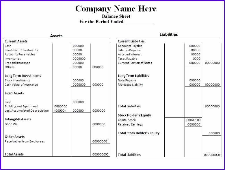 Good More From Sheets Blank Yearly Balance Sheet Excel Template Free 779589 For Balance Sheet Blank