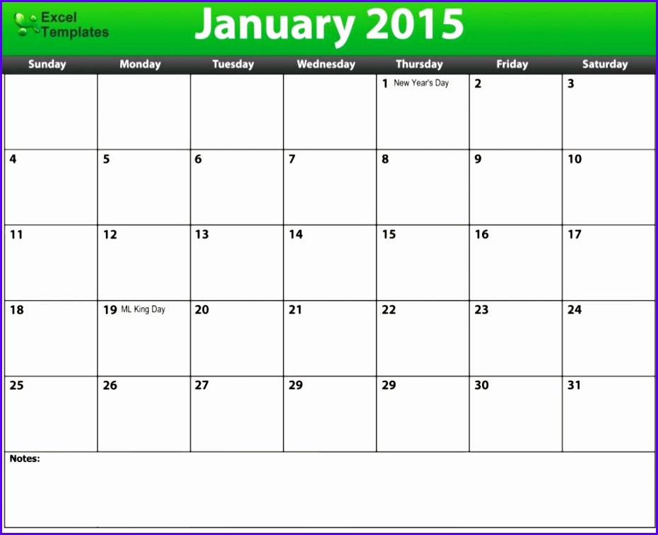 5 Excel Blank Calendar Template Exceltemplates Exceltemplates