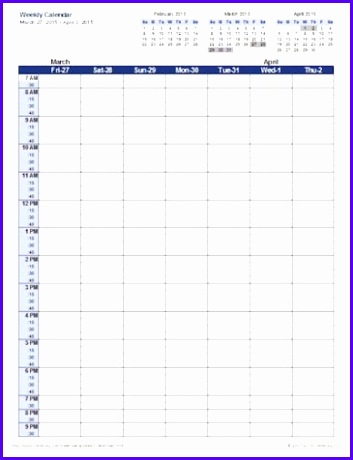 Download the free calendar template 353460