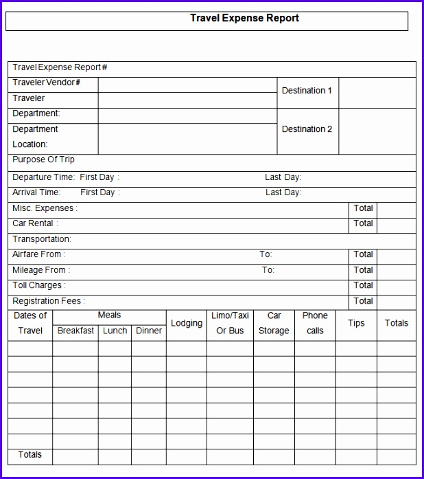 15 Expense Report Template Free Word Excel PDF Documents Download 618697