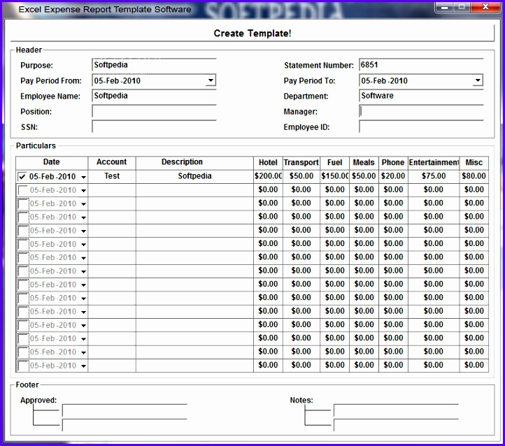 free excel expense report template 722638