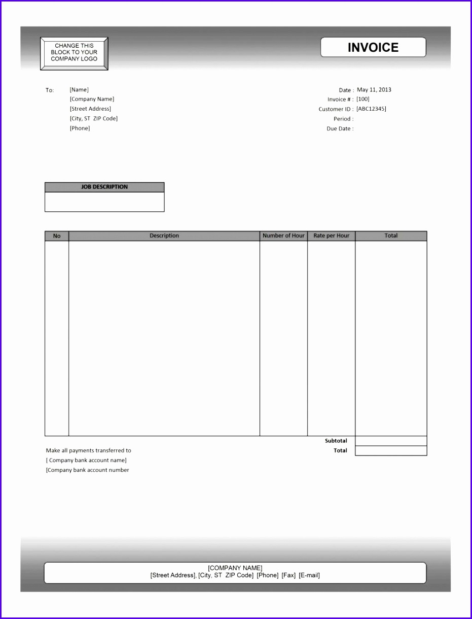 Ms Excel Invoice Template Blank Billing Free Auto Repair Microsoft fice Service Ideas With For Mac Format In Lawn Care Realtate Agent Property mission 9311219