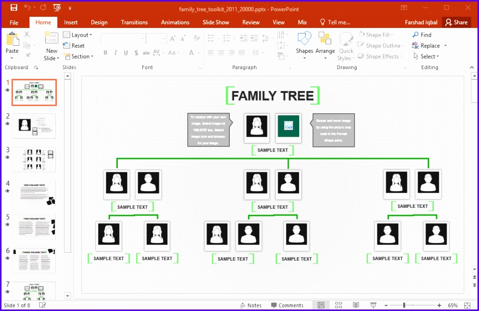 Review Animated Family Tree PowerPoint Template 943612