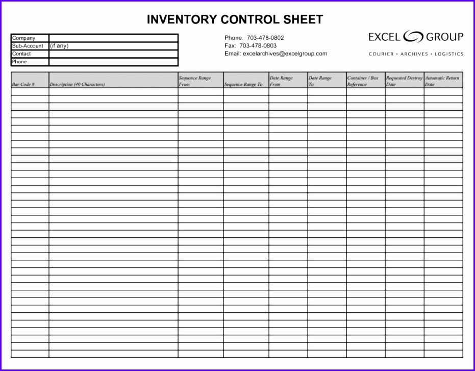 Sample Excel Template Inventory Tsfil Awesome Rental Inventory