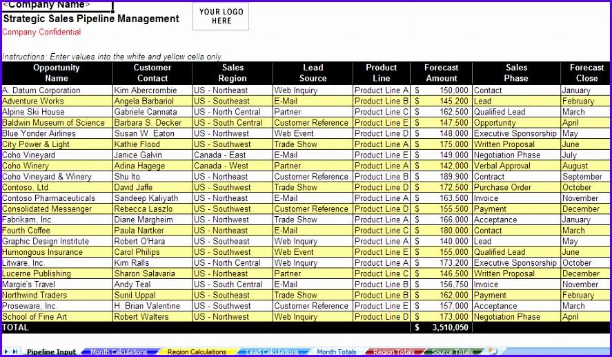 Excel Download Sales Funnel Management Spreadsheet 887517