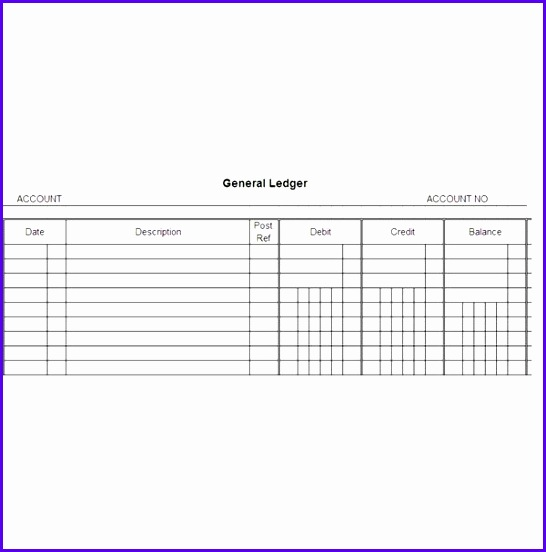 Free General Ledger Templates For Microsoft Excel 546552
