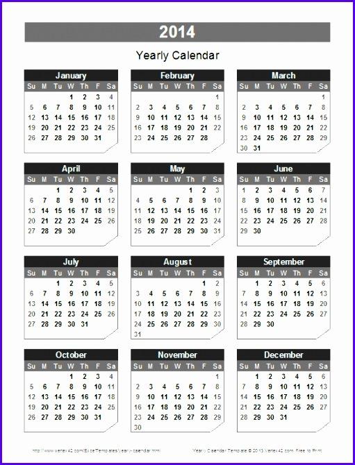 Excel Calendar Templates Tunnelvisie 2014 Calendar Annual Calendar 511670