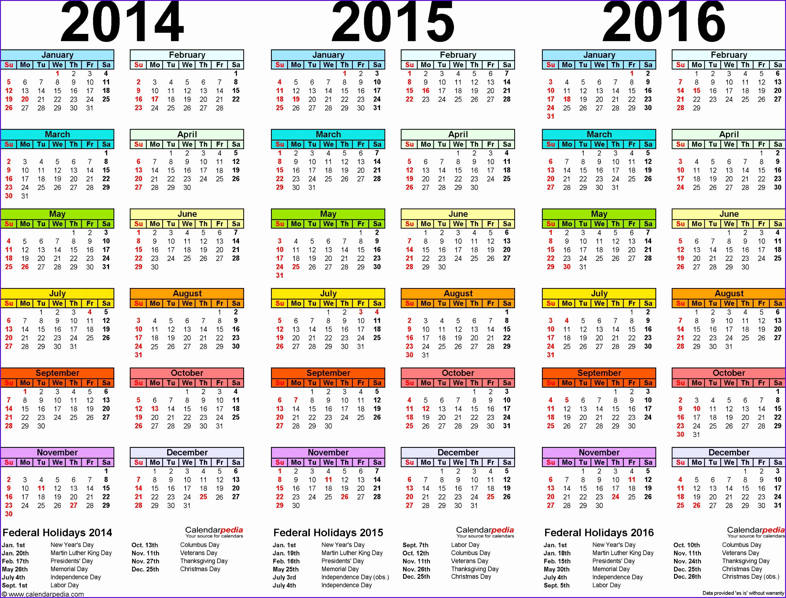 6 excel yearly calendar template 2014 exceltemplates