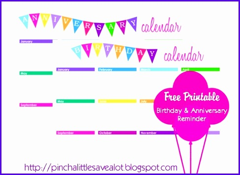 1000 images about Printable Birthday Calendar on Pinterest 488356