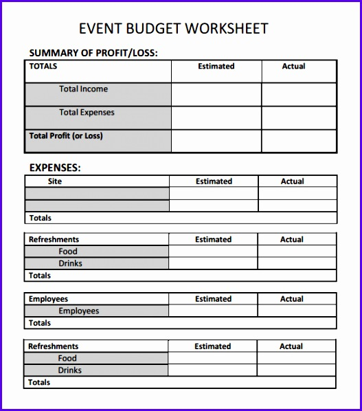 Sample Event Bud Template 6 Free Documents Download In Word Pdf 527598