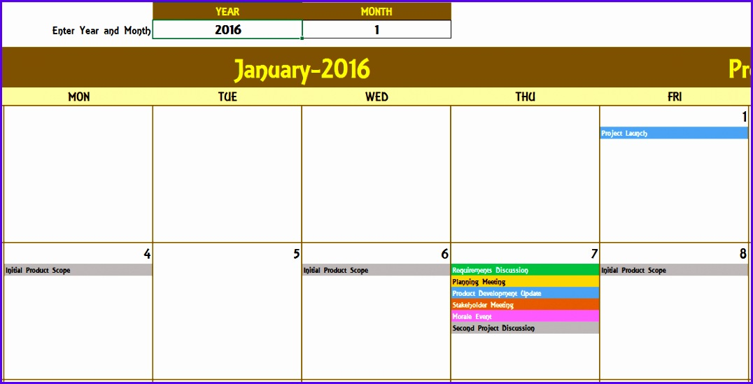Examples Free Excel Calendar Templates P8hkr Awesome Yearly Event