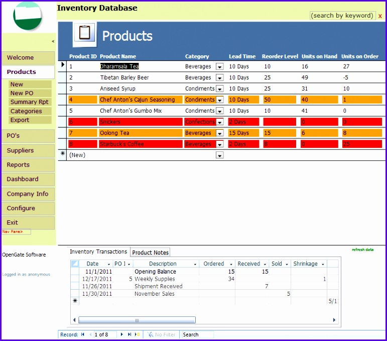 6 inventory management template excel exceltemplates for Inventory management template access 2007
