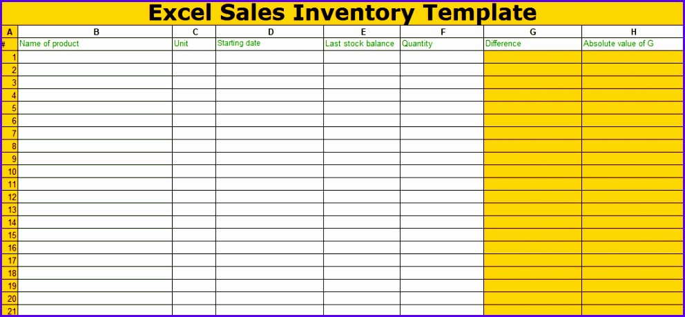 Excel Sales Inventory Template Free 992459