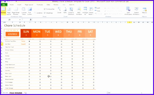 microsoft excel scheduling template