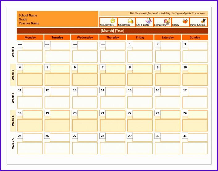 Class calendar 706552